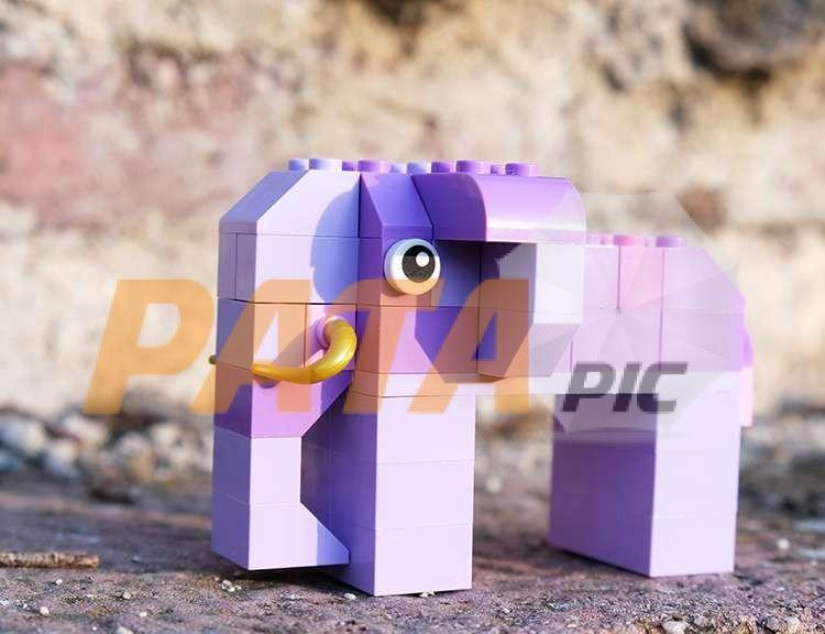One elephant from lego blocks