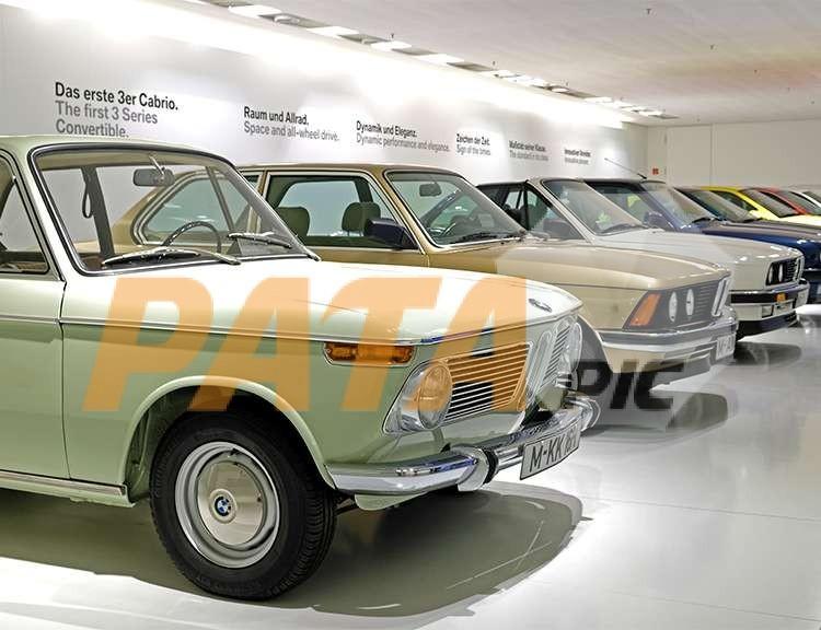 BMW cars in the museum in Munich